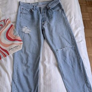 True Vintage Levi's 501, light blue jeans